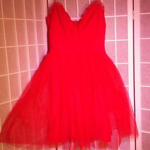 ASOS Red Party Dress Size 4